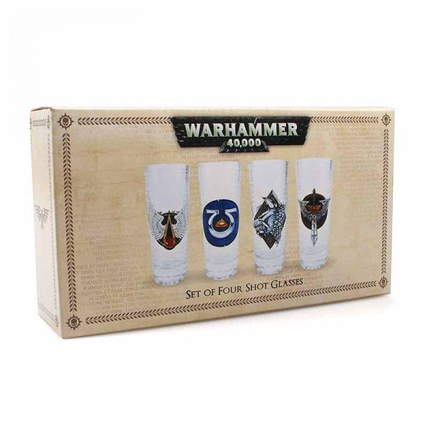 Warhammer - Glasses (Mini) Set Of 4 Boxed (Chapter)
