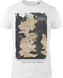 Game of Thrones - Westeros map - T Shirt - majica