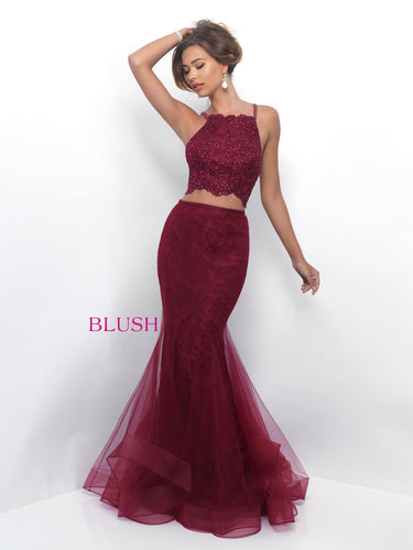 Wine Blush 2-Piece Prom Set Size 0