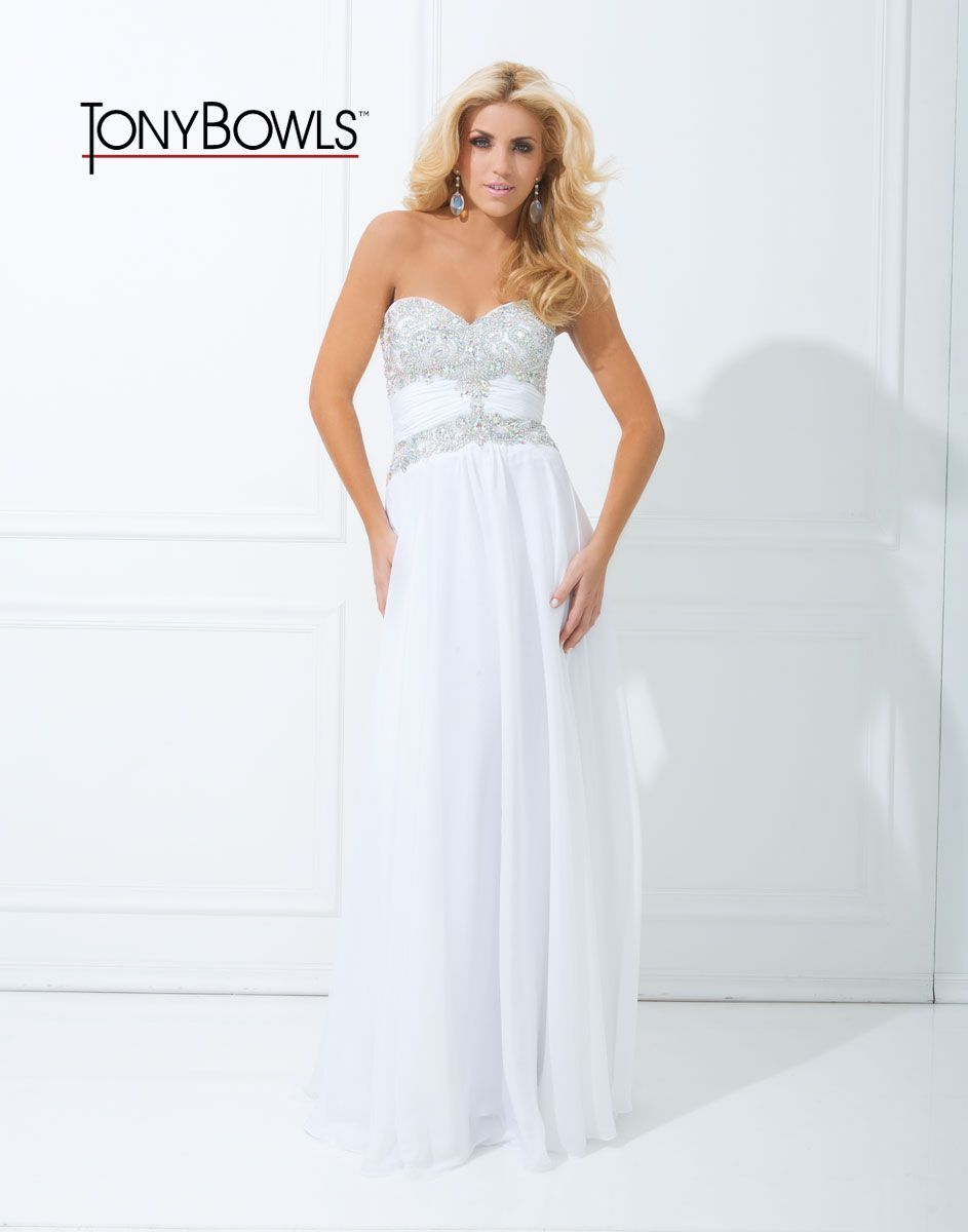 White Sweetheart Tony Bowls Dress Size 4