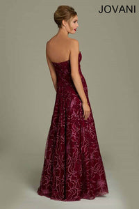 Wine Colored Sweetheart Jovani Dress Size 6