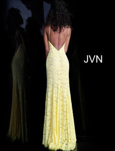 Yellow Floral Jovani Dress Size 2