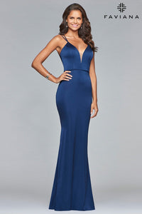 Faviana Size 6 Glamour Royal Blue Gown