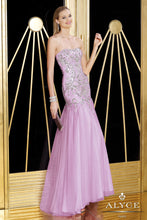Load image into Gallery viewer, Alyce Lavender Strapless Trumpet Gown Size 8/M