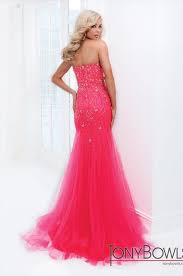 Tony Bowls Size 12 - Hot Pink Strapless Studded Mermaid Style Dress