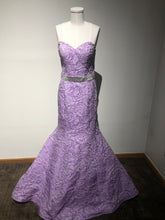 Load image into Gallery viewer, Floral Lavender Blush Gown Size 10