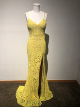 Load image into Gallery viewer, Yellow Floral Jovani Dress Size 2