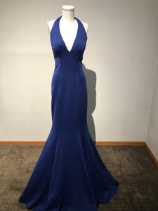 Faviana Size 12 - Mermaid Style Navy Blue Gown