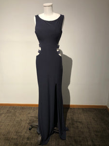Jovani Size 2 - Bluey Gray Prom Dress with Back Cut Outs