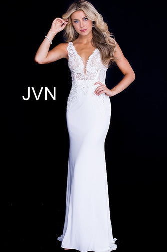 White Jovani Dress Size 8