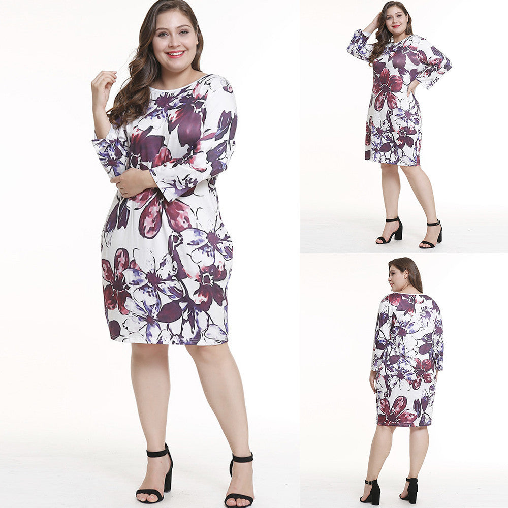 Print Knee-Length Dress