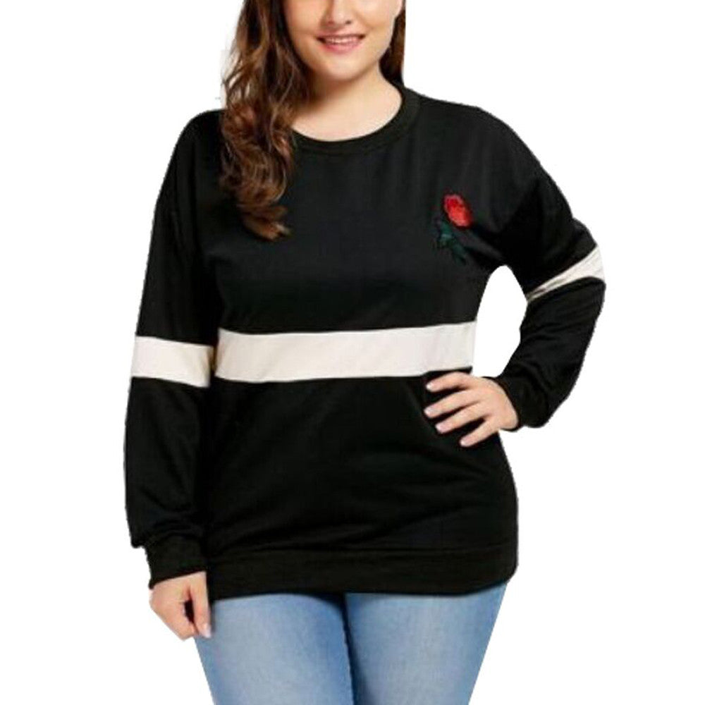 Embroidery Applique Sweatshirt