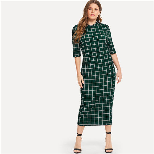 Plus Size Long Pencil Dresses
