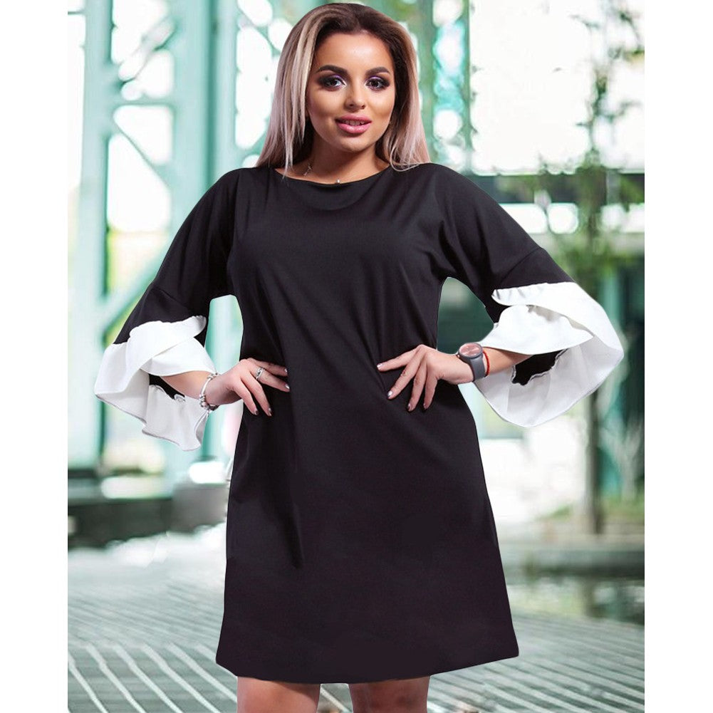 Half Layered Sleeves Elegant Mini Dress