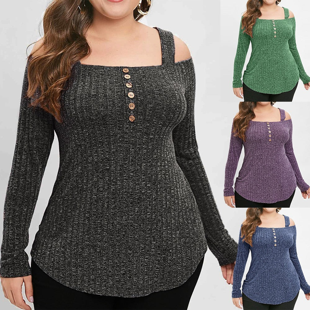 Long Sleeve Strapless Pullover