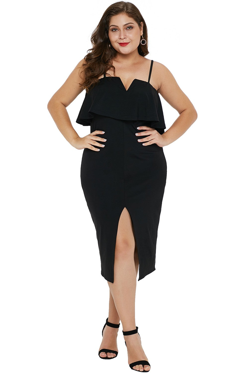 Women, Ruffle Plus Size Dress