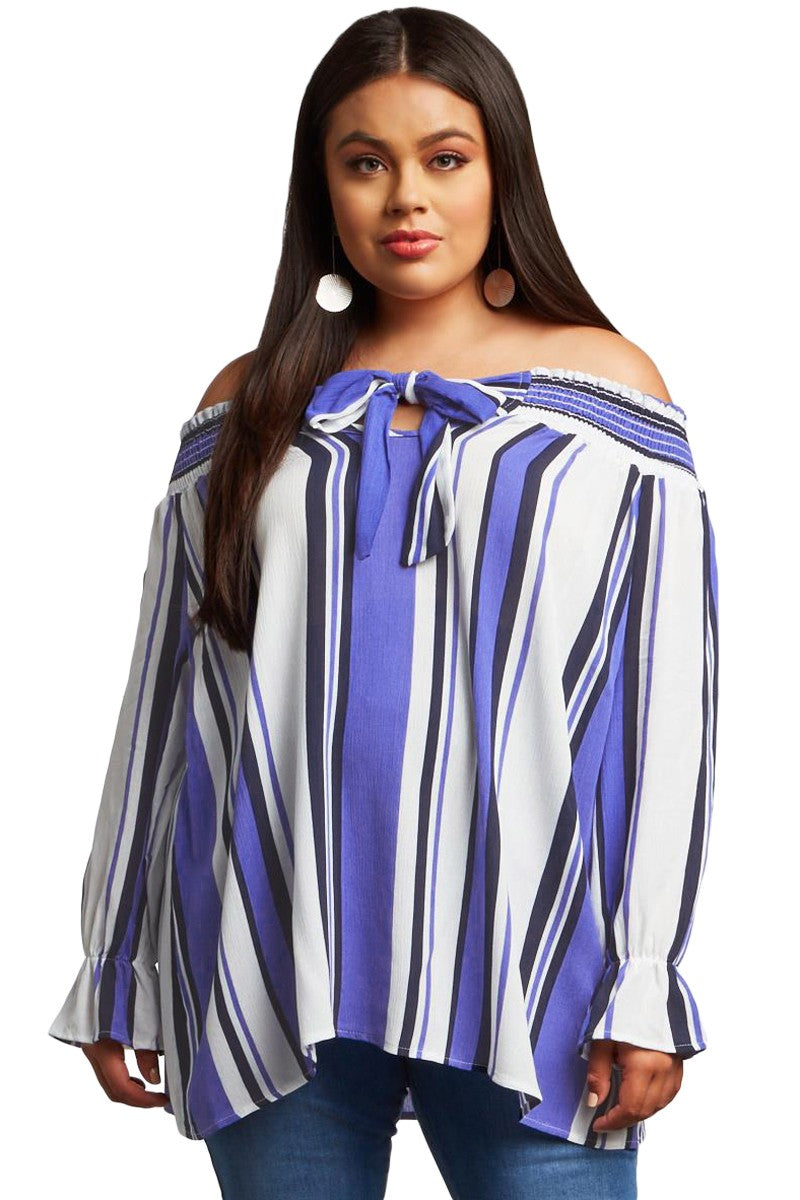 Striped Plus Size Blouse