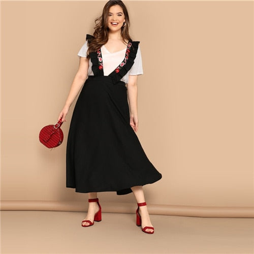 Plus Size Women Flare Skirt