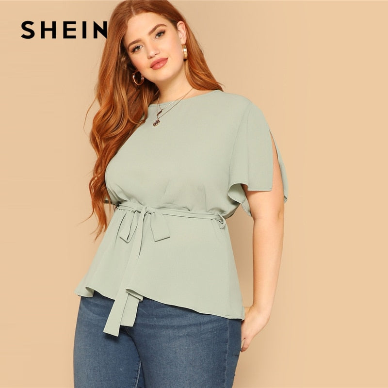 Green Plus Size Blouse
