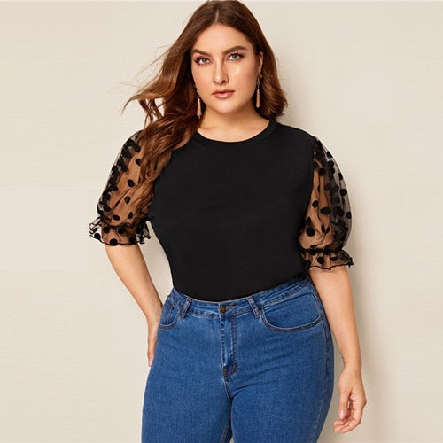Plus Size Black Blouse