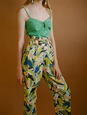 HELICONIA printed trousers