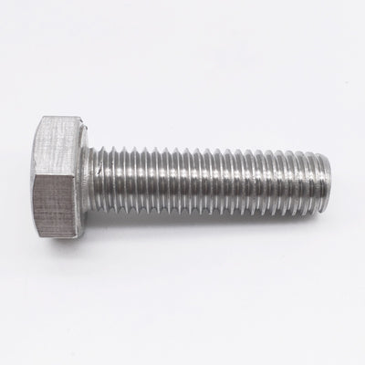 1/2-20 X 2  Left Hand Thread Hex Bolt Full Thread 18-8 Stainless Steel (pkg of 5)