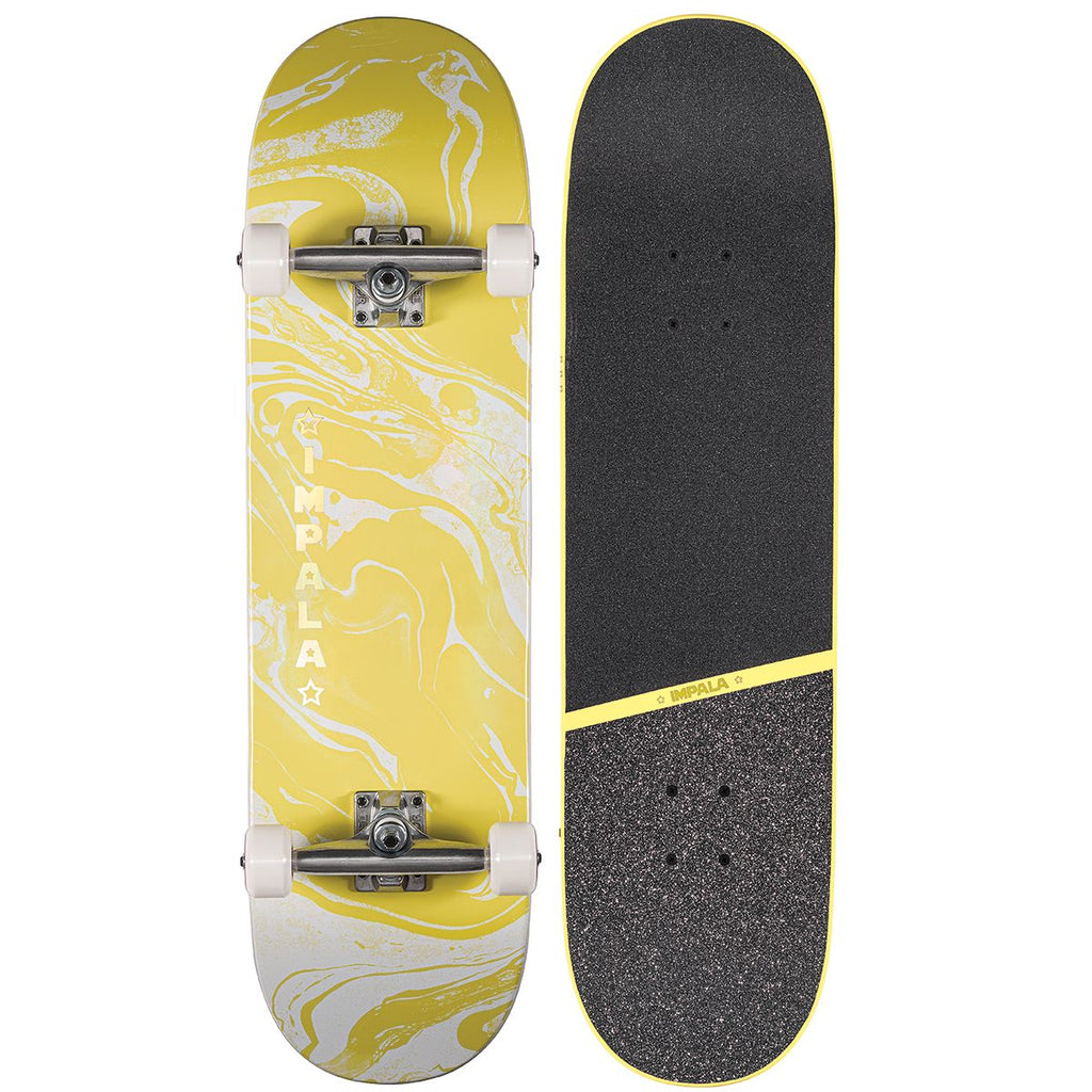 "Impala Cosmos 8.5"" Yellow Complete Skateboard"