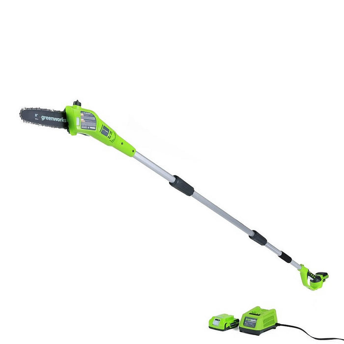 GreenWorks 1400102 24-Volt 8-Inch Adjustable Cordless Pole Saw - Bare Tool