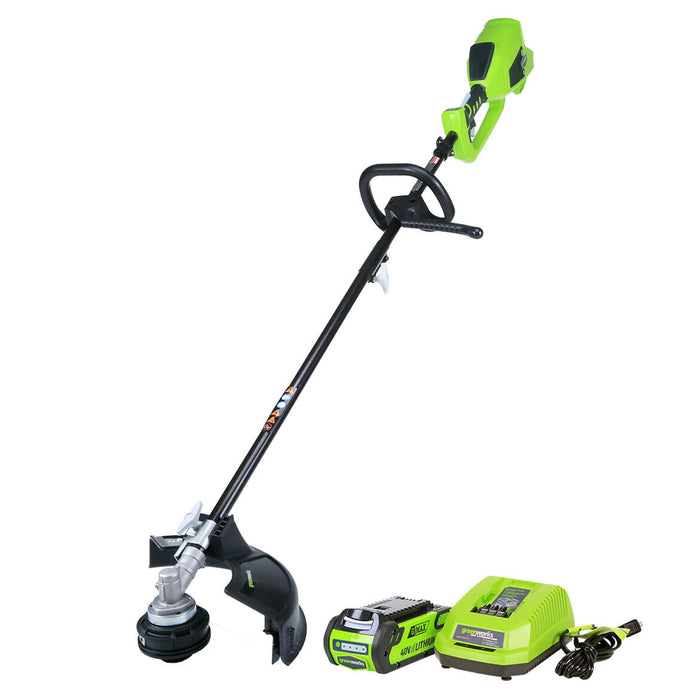 GreenWorks ST40L210 40-Volt 14-Inch 2.0Ah Cordless String Trimmer Kit - 2100402
