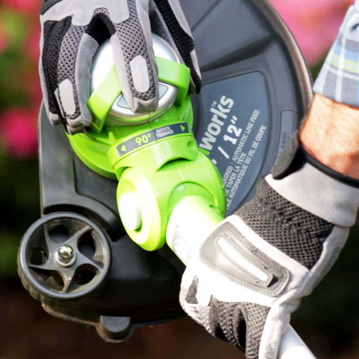 GreenWorks 21332 40-Volt 13-Inch G-MAX Pivot Cordless String Trimmer - Bare Tool