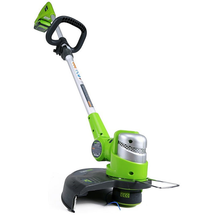 GreenWorks 21342 24-Volt 12-Inch G-24 Pivoting Cordless String Trimmer