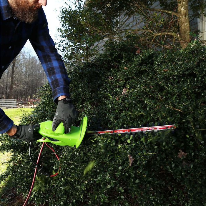 """Greenworks 2.7 Amp 18/"""" Dual Action Electric Hedge Trimmer 22102 New"""