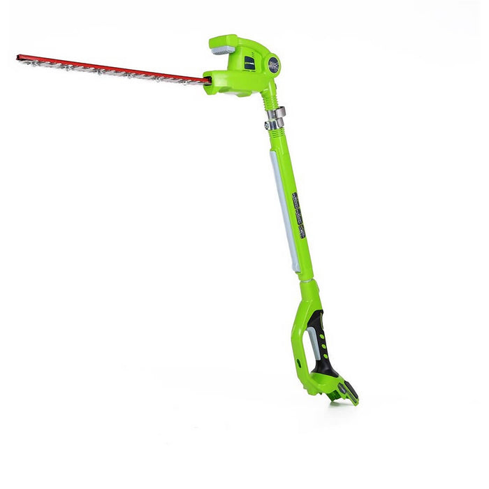 GreenWorks 2300002 24-Volt 20-Inch Cordless Pole Hedge Trimmer - Bare Tool