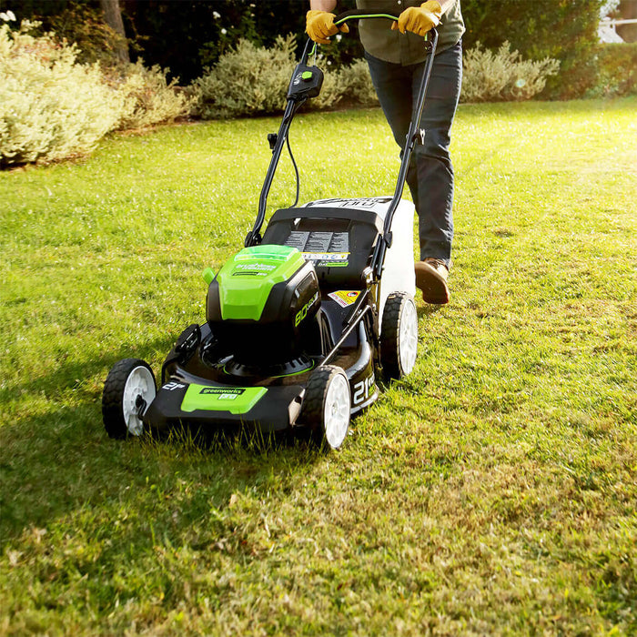 GreenWorks GLM801600 80-Volt 21-Inch 3-in-1 Cordless Lawn Mower Kit - 2500402