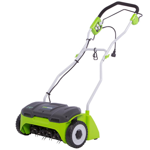 GreenWorks DT14B00 14-Inch 10-Amp Steel Ergonomic Corded Detatcher - 2500600G