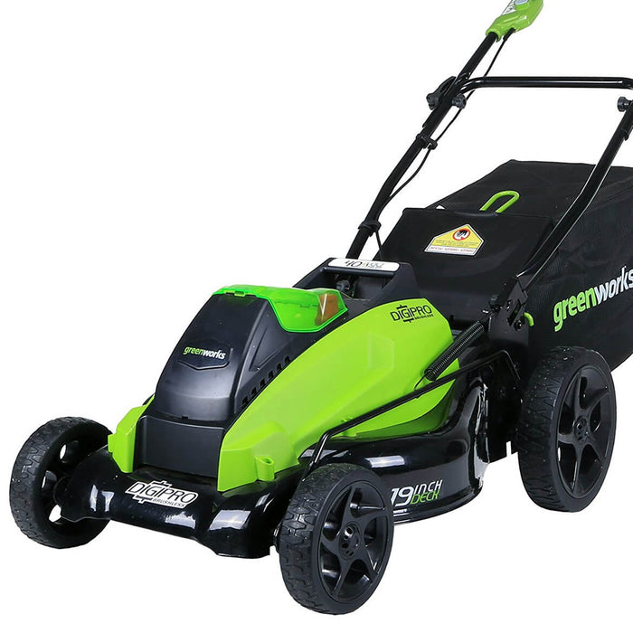 GreenWorks 2501302 40-Volt GMAX 19-Inch DigiPro Cordless Lawn Mower - Bare Tool
