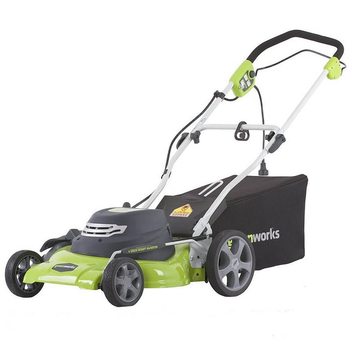 GreenWorks 25022 20-Inch 12-Amp Electric Push Button Start Walk Behind Lawn Mower