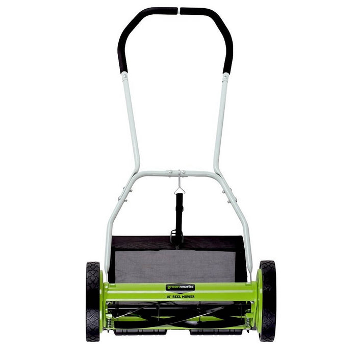 GreenWorks 25052 16-Inch 2-in-1 Push Reel Lawn Mower w/ Grass Catcher