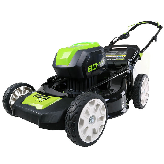 GreenWorks GLM801600 80-Volt 21-Inch Brushless Lawn Mower - Bare Tool - 2506902