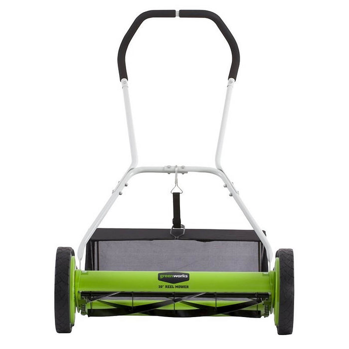 GreenWorks 25072 20-Inch 2-in-1 Push Reel Lawn Mower w/ Grass Catcher
