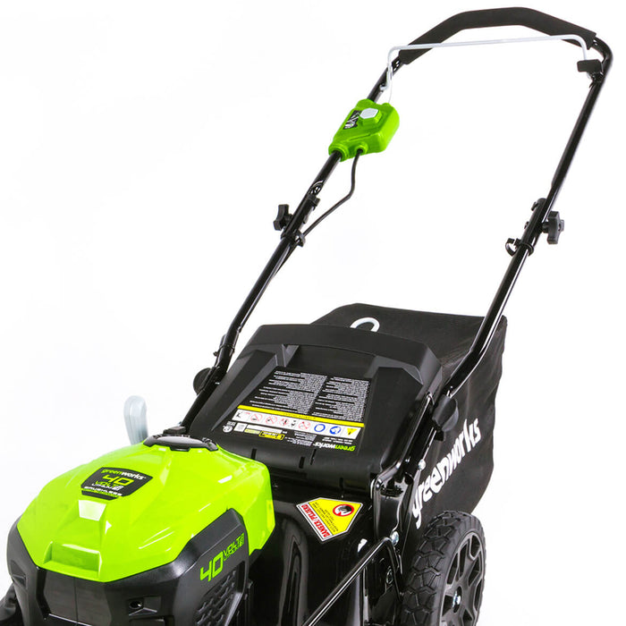 GreenWorks MO40L00 40-Volt 20-Inch Cordless Push Lawn Mower - Bare Tool - 2508802