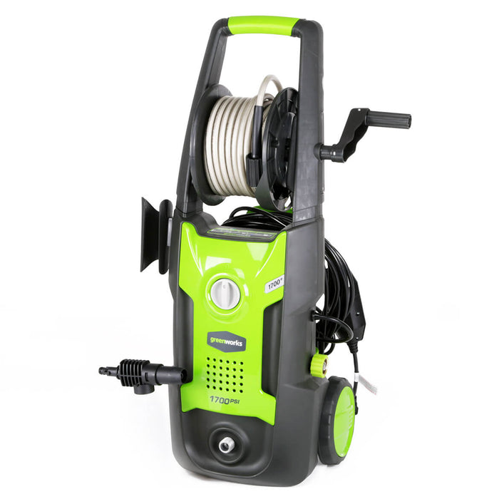GreenWorks GPW1702 1,700-Psi Vertical Pressure Washer w/ Hose Reel -  5100402