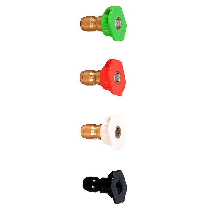 GreenWorks 5201502 0, 25, 40 and Soap Pressure Washer Nozzle Tips Set - 4pk