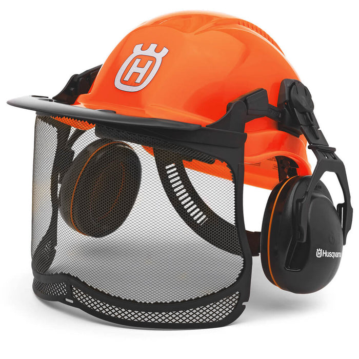 Husqvarna 577764601 Hi-Viz Orange Pro Forest Visor/Hearing Protection Helmet