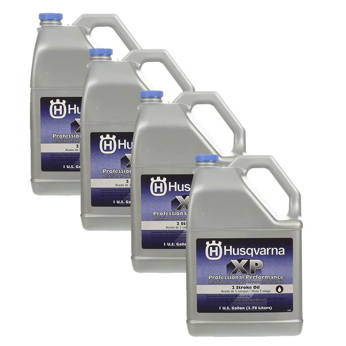Husqvarna 593152305 1-Gallon 2-Stroke XP Professional Engine Oil - 4pk
