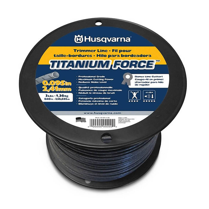 Husqvarna 639005116 .105-Inch x 50-Foot Titanium Force String Trimmer Line Donut
