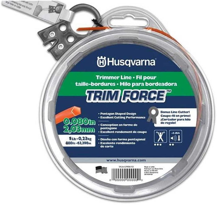 "Husqvarna 639006104 .080"" 1lb Co-polymer High Performance Force Trimmer Line"
