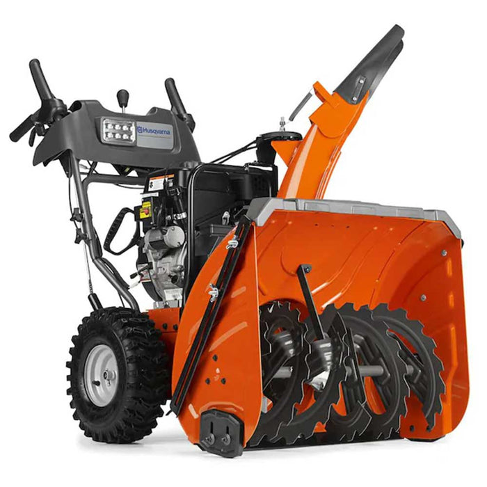 "Husqvarna ST327P 27"" 291cc Two Stage Electric Start Snow Blower Thrower w/ Tires"