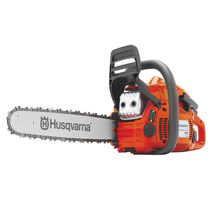 Husqvarna 445E 18-Inch 2.8 HP 45.7cc Gas Power Smart Start Chainsaw - 967651003