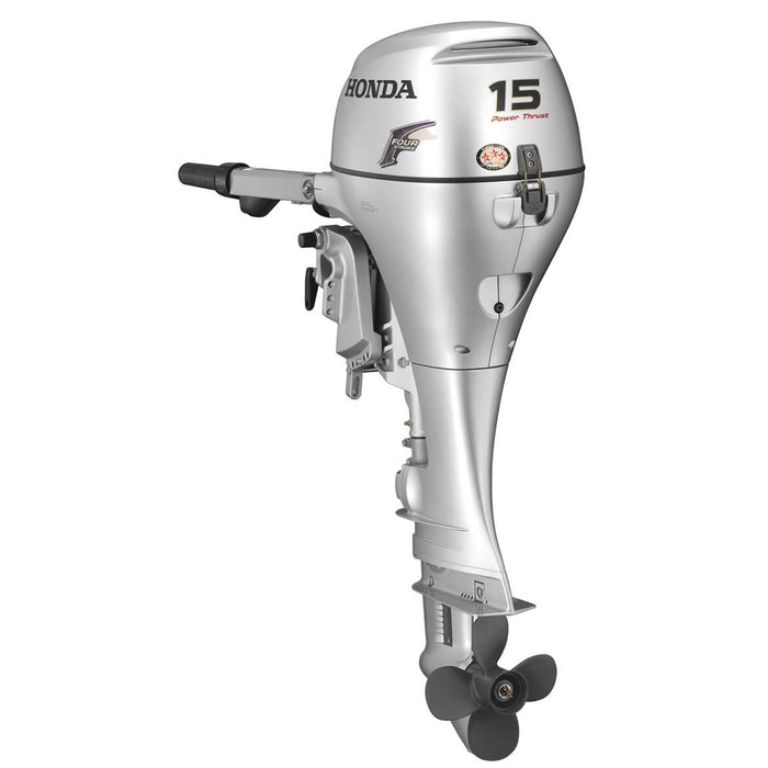 "Honda Marine BF15 15 HP Electric Start Engine 15"" Power Tilt Outboard Motor"